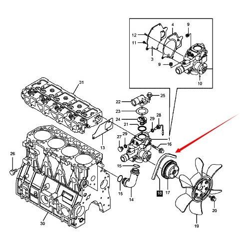 Engine Fan Yanmar Part 12991644740 : Linde yanmar tne fan belt